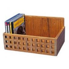 Teak Grating CD Rack
